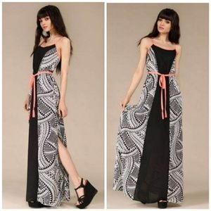 NWT Sheer long dress Black white cover up maxi